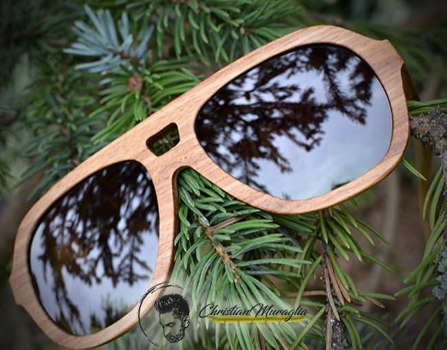 Kerbholz - Occhiali da sole in legno modello Ferdinand Zebranowood
