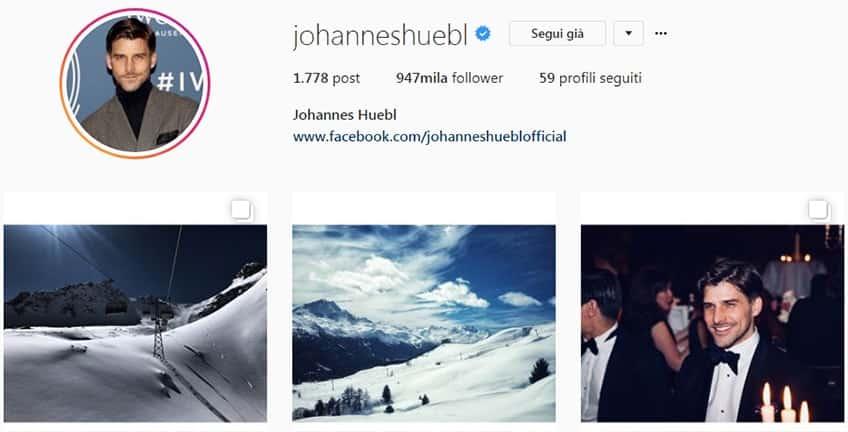 Johannes Huebl - Profilo Instagram moda uomo