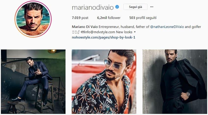 Mariano Di Vaio - Profilo Instagram moda uomo
