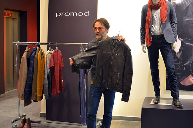 Giacca in pelle Promod uomo