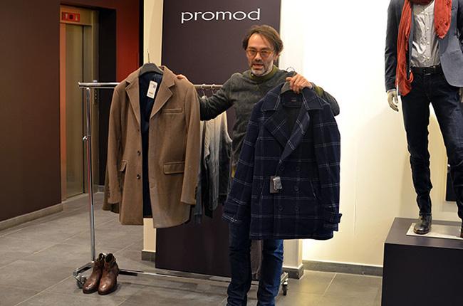 Stephane Lefebvre illustra la nuova collezione Promod uomo