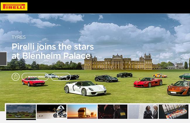 Il nuovo sito Pirelli - www.pirelli.com