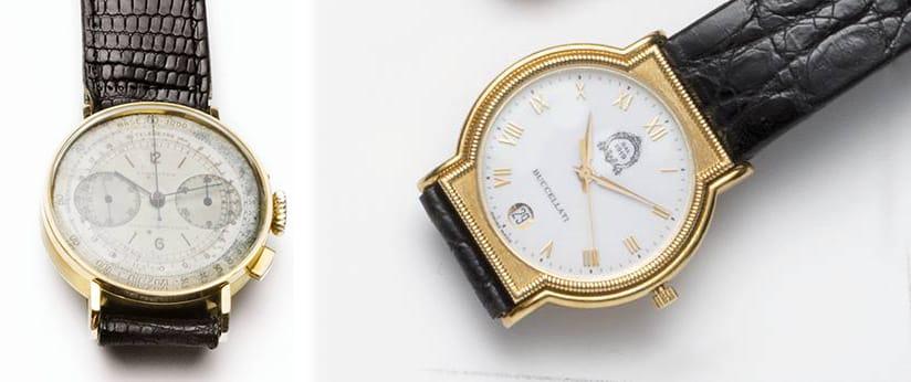 Longines, cronografo anni '40 - Mario Buccellati, orologio con cassa in oro giallo