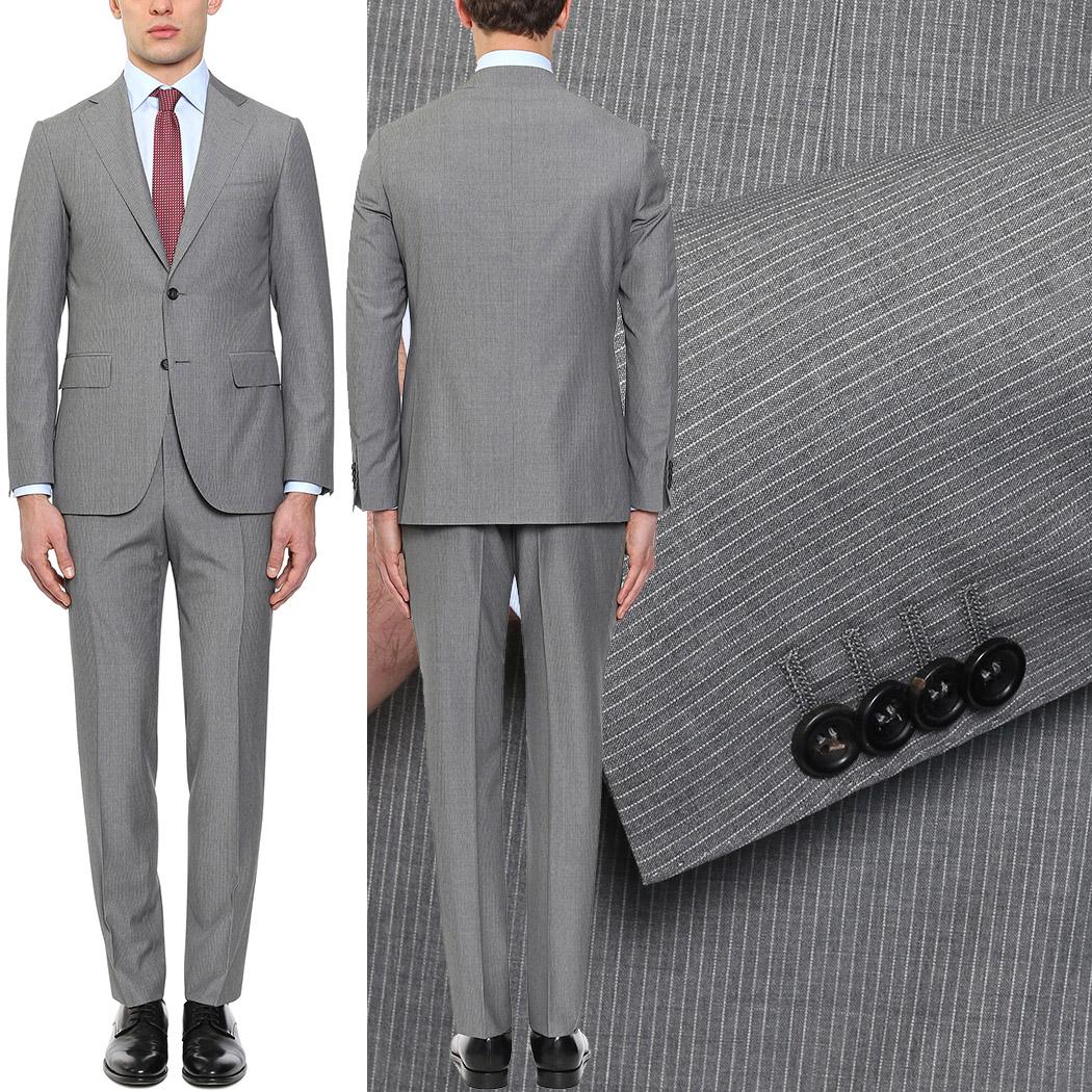 Abito uomo Capri microgessato grigio in lana