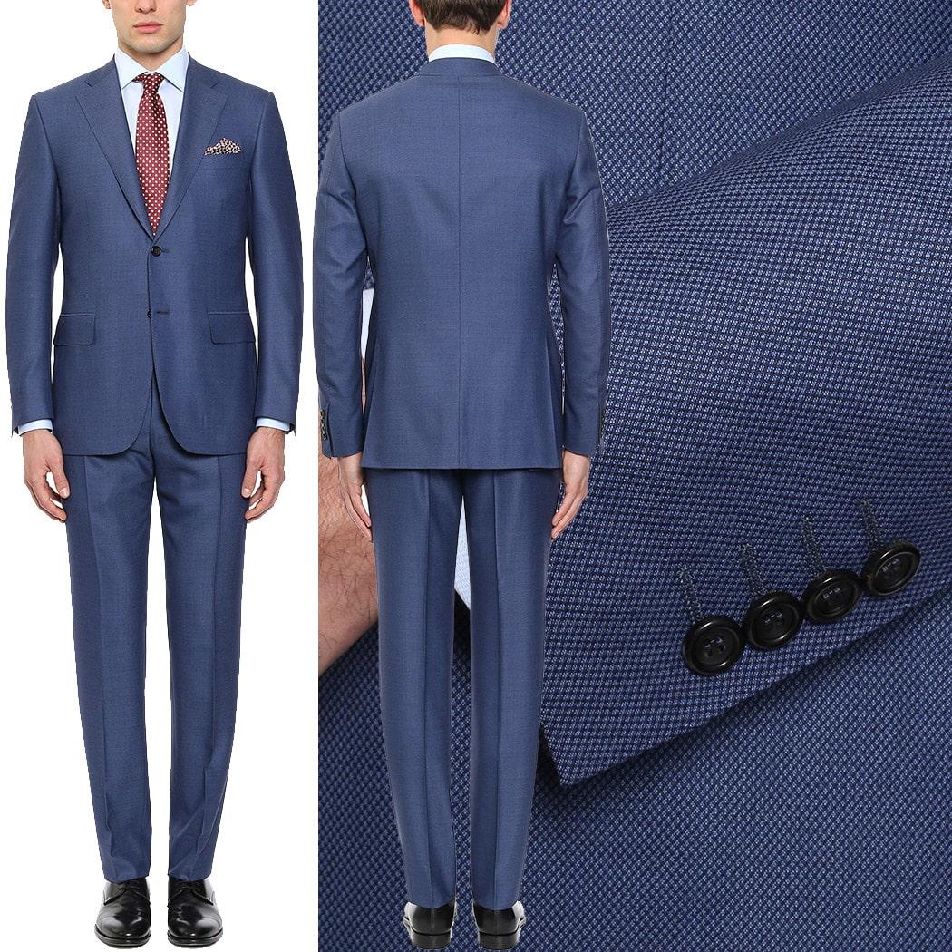 Abito uomo Canali Venezia Exclusive blu in lana super 160's