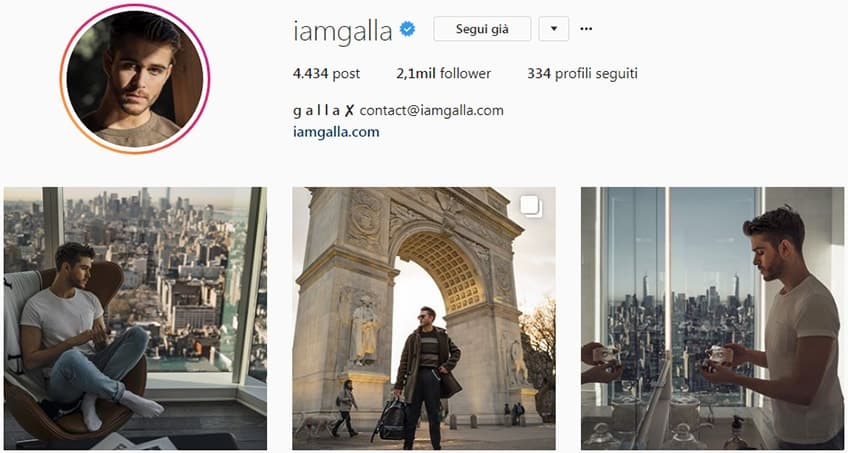 Adam Gallagher - Pagina instagram moda uomo