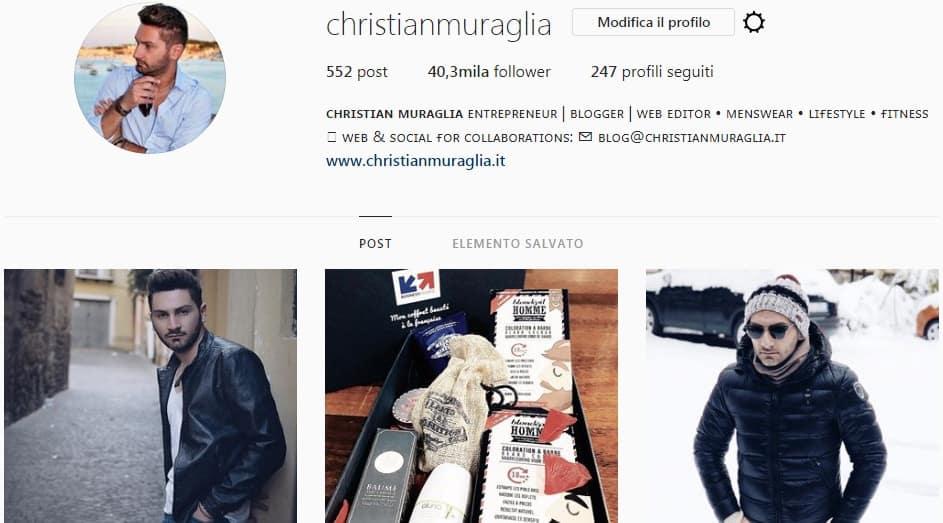 Christian Muraglia - Pagina instagram moda uomo