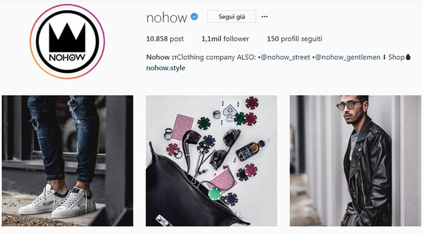 Nohow - Account instagram moda uomo