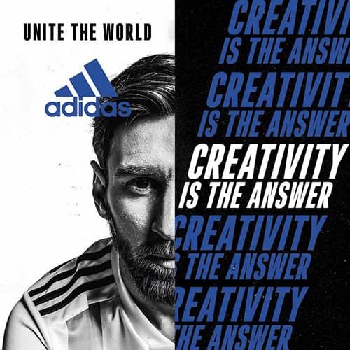 """Leo Messi per la campagna adidas """"Creativity is the Answer"""""""