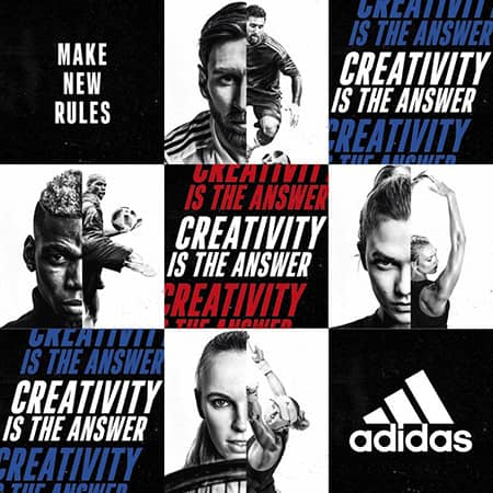 "Atleti per la campagna adidas ""Creativity is the Answer"""