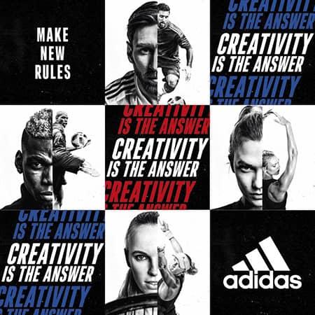 "Atleti per la campagna adidas ""Creativity is the Answer"""