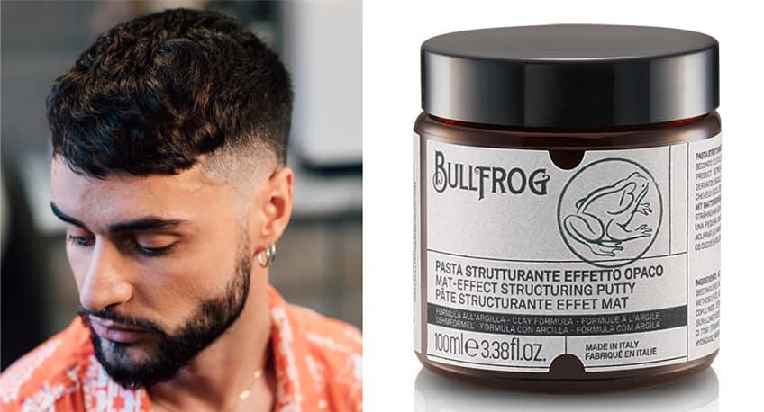 Taglio di capelli French Crop con Pasta Strutturante Effetto Opaco Bullfrog