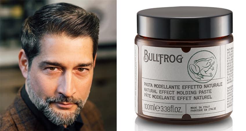 Taglio di capelli Italian Cut con Pasta Modellante Effetto Naturale Bullfrog